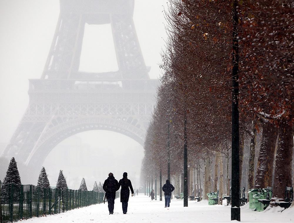 Зима в Париже постер купить интернет-магазин