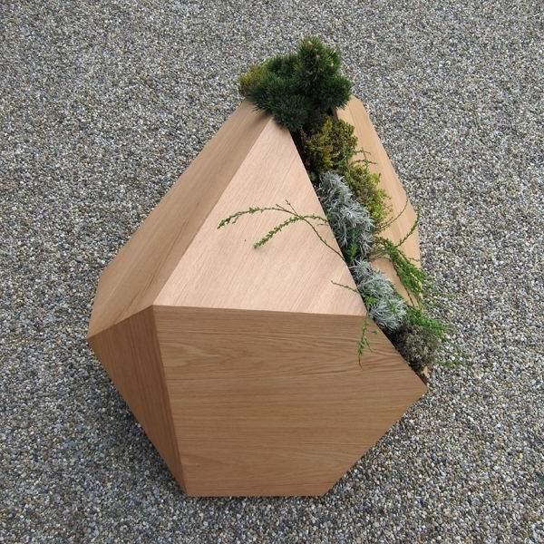 горшок из дерева стильный модерн лофт купить интернет магазин
