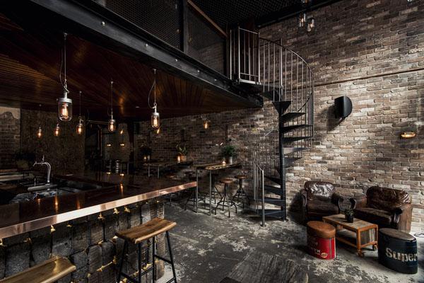 лофт стиль бар ресторан кафе примеры оформления и декора купить интернет магазин