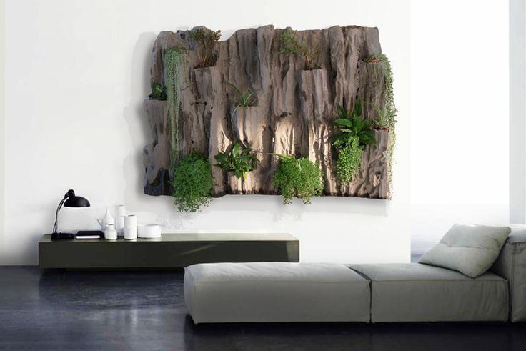 декорирование стен рестениями