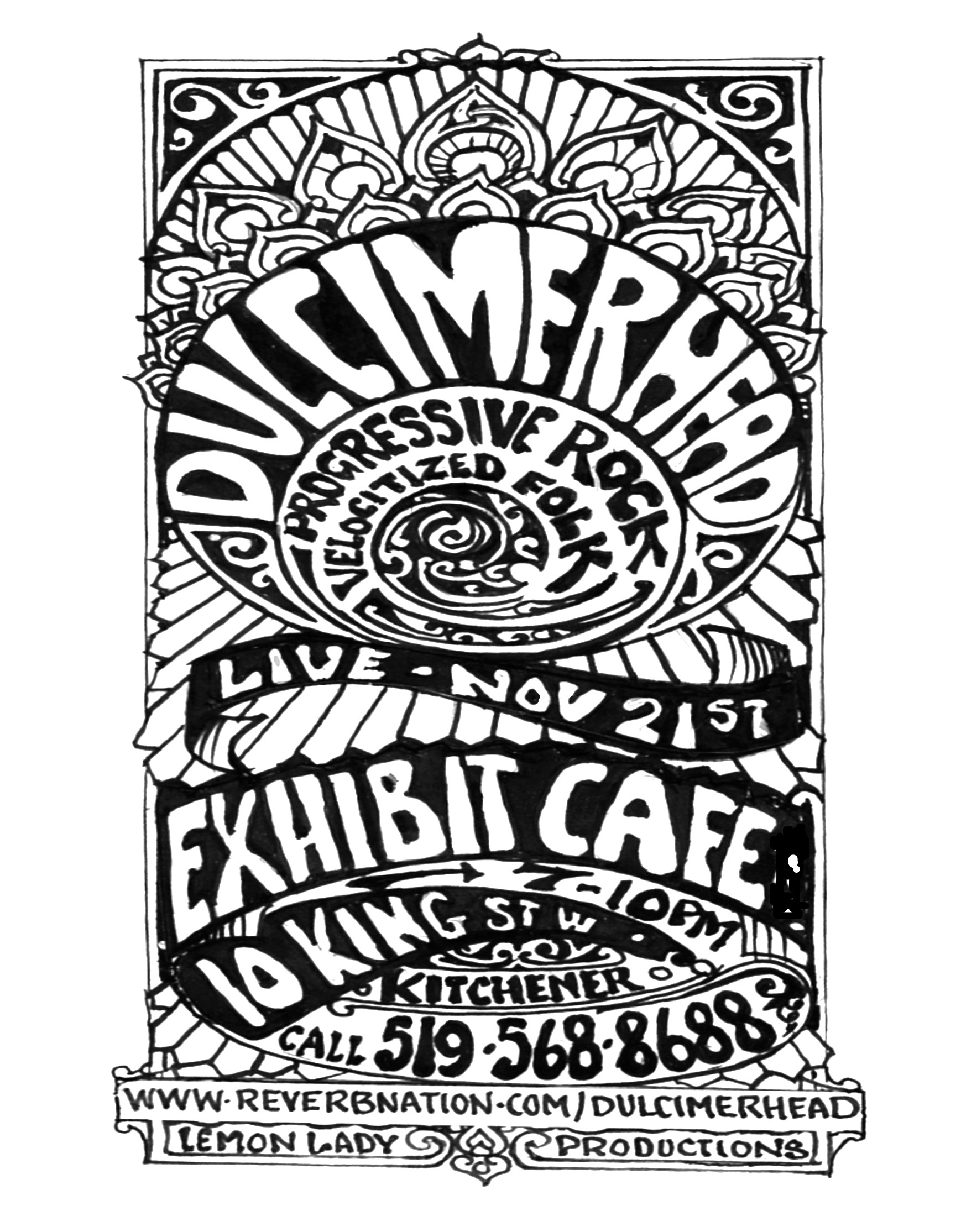 Exhibit Cafe  poster