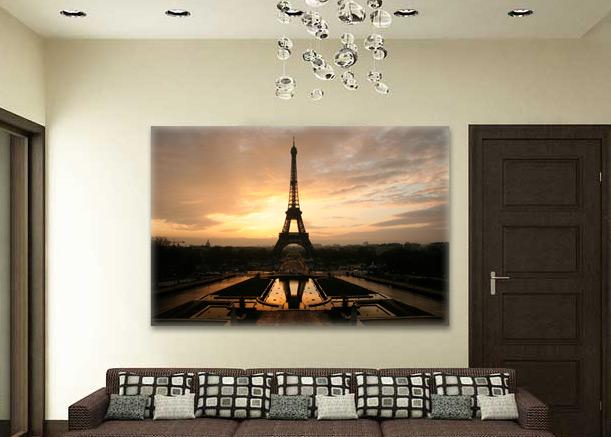 постер Париж на закате купить недорого интернет магазин Казань