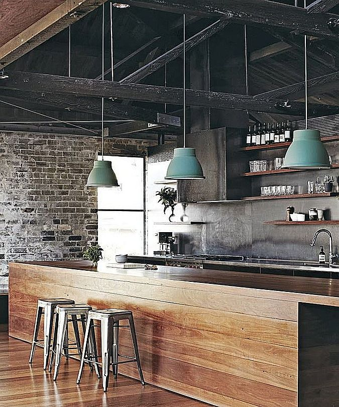 лофт кухня интерьер кухни 2018 современные идеи