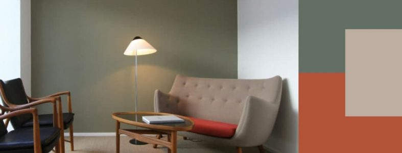 двухцветные стены в интерьере пример крашеные стены
